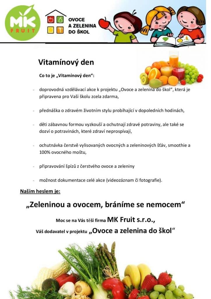plakát k vitamínovému dnu