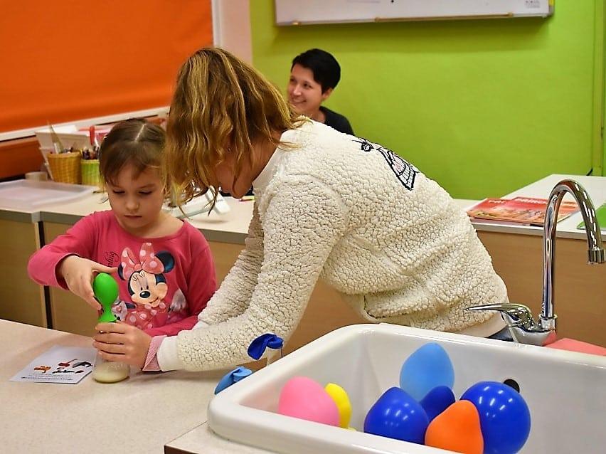 děti a balonky