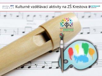 noty, flétna a malířská paleta