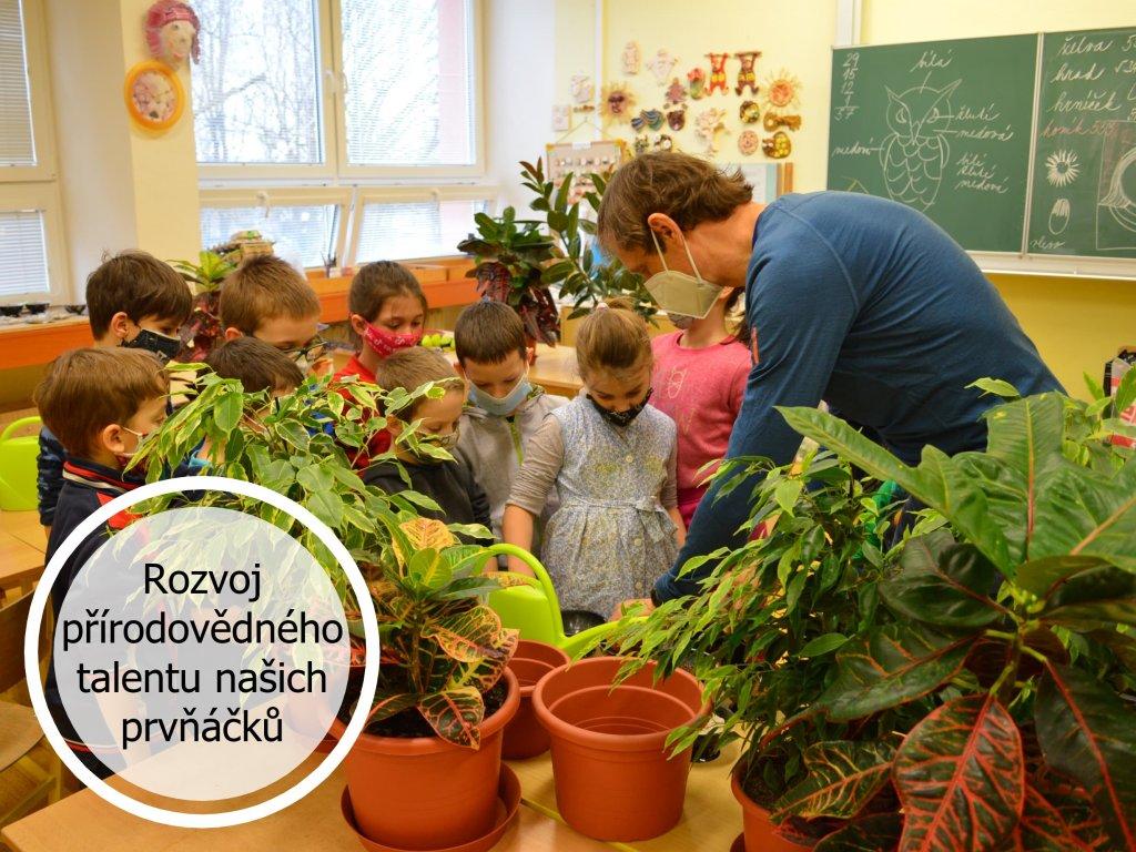 děti a rostliny